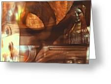 Digital Collage  Greeting Card