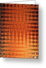 Digital Copper Plate Abstract Greeting Card
