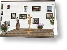 digital exhibition _ A sculpture of a dancing girl 3 Greeting Card