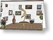 digital exhibition _ A sculpture of a dancing girl 9 Greeting Card