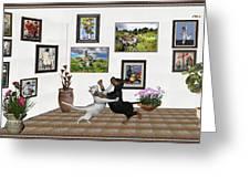 Digital Exhibition _ Dancing Lovers Greeting Card