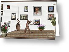 digital exhibition _ Girl 2 - Zombie  Greeting Card