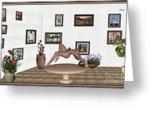 Digital Exhibition _ Girl 50 Greeting Card