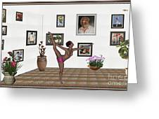 Digital Exhibition _ Girl Acrobat 34 Greeting Card