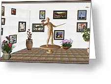 Digital Exhibition _ Guard Of The Exhibition 3 Greeting Card