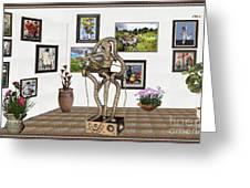 Digital Exhibition _ Modern  Statue   Of Dancing Girl Greeting Card