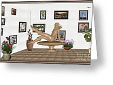 digital exhibition _ Sculpture 12 of girl  Greeting Card