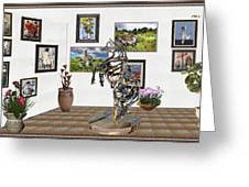 Digital Exhibition _ Statue Of Branches Greeting Card