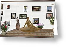 digital exhibition _ Statue of girl 49 Greeting Card