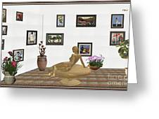 digital exhibition _ Statue of girl 52 Greeting Card
