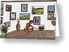 digital exhibition _beautiful Girl  - Zombie Greeting Card