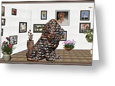 digital exhibition _Modern Statue of scrap Greeting Card