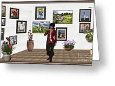 Digital Exhibition _posing Girl 221 Greeting Card