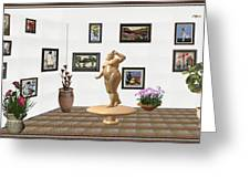 digital exhibition  Statue 23 of posing lady  Greeting Card