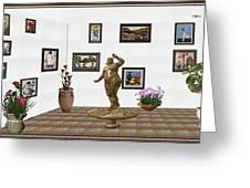 digital exhibition  Statue 25 of posing lady  Greeting Card
