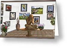 digital exhibition _Statue 5 of posing girl 221 Greeting Card