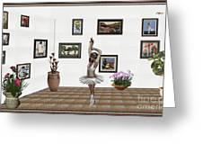 Digital Exhibition_my Dancing Girl Greeting Card