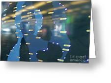 Digital Faces Greeting Card