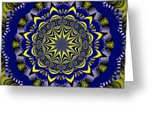 Digital Fractal Poster Greeting Card
