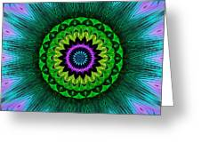 Digital Kaleidoscope Mandala 50 Greeting Card