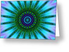 Digital Kaleidoscope Mandala 51 Greeting Card