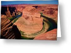 Digital Paint Horseshoe Bend  Greeting Card