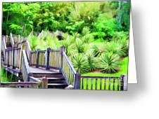 Digital Paint Landscape Jefferson Island  Greeting Card