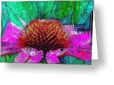 Digital Pink Echinacea  Greeting Card