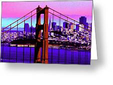 Digital Sunset - Ggb Greeting Card