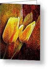 Digital Tulips Greeting Card