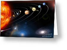 Digitally Generated Image Of Our Solar Greeting Card