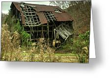 Dilapidated Barn Morgan County Kentucky Greeting Card
