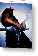 Dimebag Is Gd Electric Greeting Card by Al  Molina