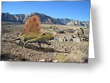 Dimetrodon In The Desert Greeting Card