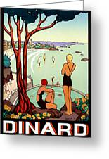 Dinard, French Riviera, Two Swimmers  Greeting Card