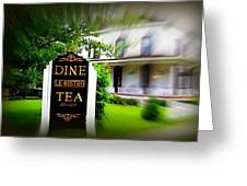 Dine Le Bistro Tea Greeting Card