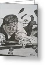 Ding Junhui Snooker Greeting Card