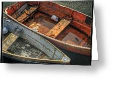 Dinghies At Rockport Greeting Card