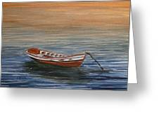 Dinghy At Dusk Greeting Card