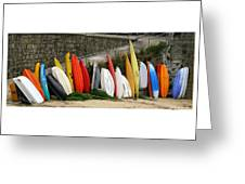 Dinghy Conga Line Greeting Card