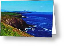 Dingle Coastline Near Fahan Ireland Greeting Card