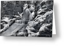 Dingmans Falls In Winter Greeting Card