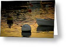 Dingy And Mooring Greeting Card