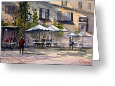 Dining Alfresco Greeting Card