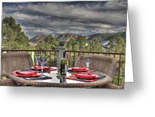 Dining With A View Greeting Card