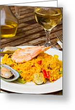 Dining With Paella Greeting Card