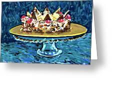 Dinner Cake Greeting Card