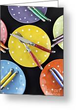 Dinner Party Table Setting Greeting Card