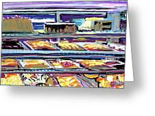 Dinner Pastry Case Greeting Card