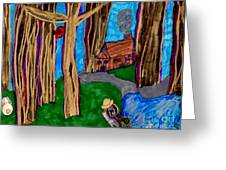 Dinner In The Woods Greeting Card